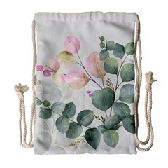 Peony To Be Drawstring Bag (large) by tangdynasty
