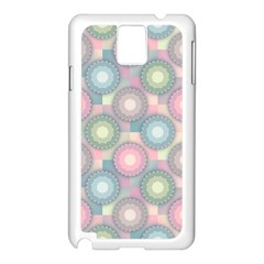 Seamless Pattern Pastels Background Samsung Galaxy Note 3 N9005 Case (white)