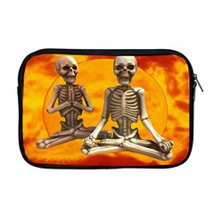 Skeletons Meditation Zen Human Apple Macbook Pro 17  Zipper Case