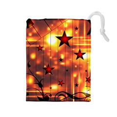 Star Radio Light Effects Magic Drawstring Pouch (large)
