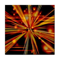 Zoom Effect Explosion Fire Sparks Tile Coasters by Desi8477