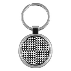 Optical Illusion Illusion Black Key Chains (round)  by Pakrebo