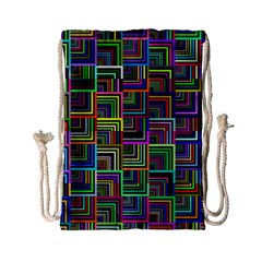 Wallpaper Background Colorful Drawstring Bag (small)