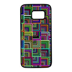 Wallpaper Background Colorful Samsung Galaxy S7 Black Seamless Case