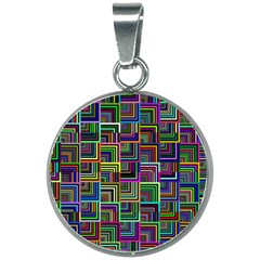 Wallpaper Background Colorful 20mm Round Necklace
