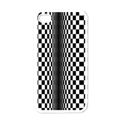 Art Optical Black White Contrast Iphone 4 Case (white)