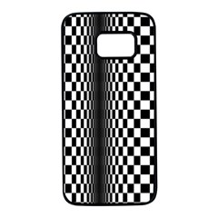 Art Optical Black White Contrast Samsung Galaxy S7 Black Seamless Case