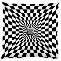 Optical Illusion Chessboard Tunnel Large Flano Cushion Case (one Side)