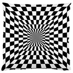 Optical Illusion Chessboard Tunnel Large Flano Cushion Case (One Side) Front