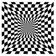 Optical Illusion Chessboard Tunnel Large Satin Scarf (square)
