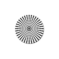 Starburst Sunburst Hypnotic Golf Ball Marker (10 Pack) by Pakrebo