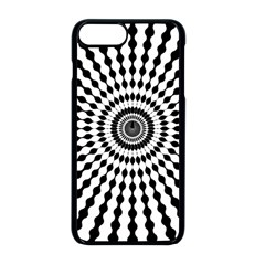 Starburst Sunburst Hypnotic Iphone 8 Plus Seamless Case (black)