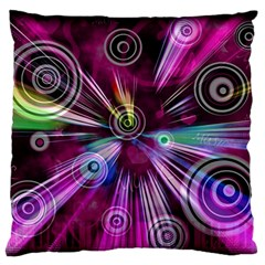 Fractal Circles Abstract Standard Flano Cushion Case (two Sides)