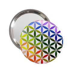 Mandala Rainbow Colorful Reiki 2 25  Handbag Mirrors by Pakrebo
