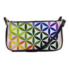 Mandala Rainbow Colorful Reiki Shoulder Clutch Bag