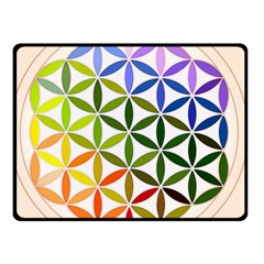 Mandala Rainbow Colorful Reiki Double Sided Fleece Blanket (small)