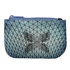 Graphic Pattern Wing Art Large Coin Purse