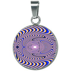Illusion Head Idea Irritation 20mm Round Necklace