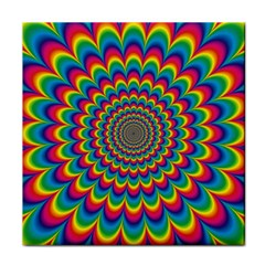 Psychedelic Colours Vibrant Rainbow Tile Coasters