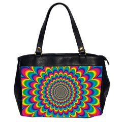Psychedelic Colours Vibrant Rainbow Oversize Office Handbag (2 Sides)