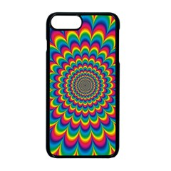Psychedelic Colours Vibrant Rainbow Iphone 8 Plus Seamless Case (black)