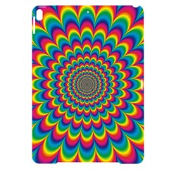 Psychedelic Colours Vibrant Rainbow Apple Ipad Pro 10 5   Black Frosting Case