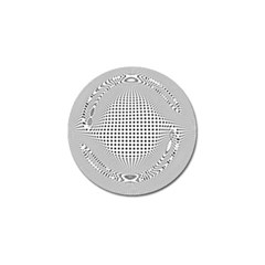 Illusion Form Shape Curve Design Golf Ball Marker (10 Pack) by Pakrebo
