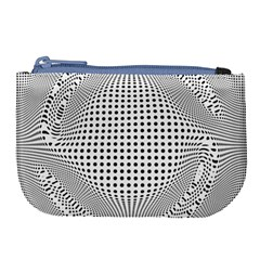 Illusion Form Shape Curve Design Large Coin Purse
