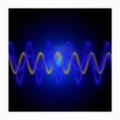 Light Shining Blue Frequency Sine Medium Glasses Cloth