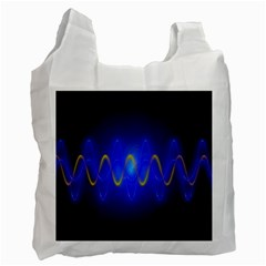Light Shining Blue Frequency Sine Recycle Bag (two Side)
