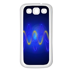 Light Shining Blue Frequency Sine Samsung Galaxy S3 Back Case (white)