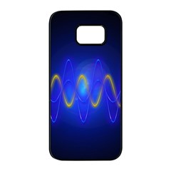 Light Shining Blue Frequency Sine Samsung Galaxy S7 Edge Black Seamless Case