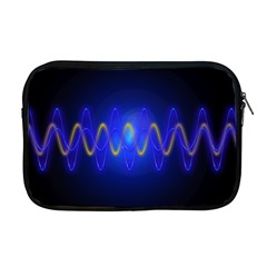 Light Shining Blue Frequency Sine Apple Macbook Pro 17  Zipper Case