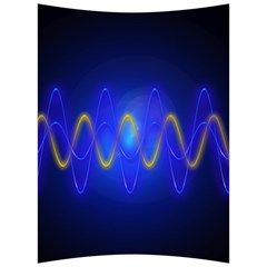 Light Shining Blue Frequency Sine Back Support Cushion