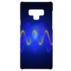 Light Shining Blue Frequency Sine Samsung Note 9 Frosting Case