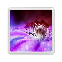 Clematis Structure Close Up Blossom Memory Card Reader (square)