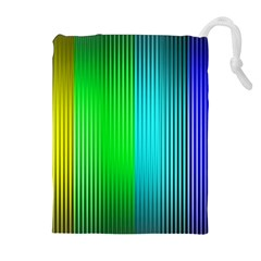 Lines Rainbow Colors Spectrum Color Drawstring Pouch (xl)