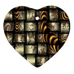 Graphics Abstraction The Illusion Heart Ornament (two Sides)