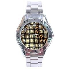 Graphics Abstraction The Illusion Stainless Steel Analogue Watch by Pakrebo