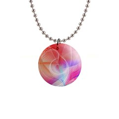 Background Nebulous Fog Rings 1  Button Necklace