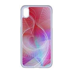 Background Nebulous Fog Rings Iphone Xr Seamless Case (white)