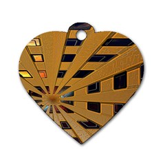 Graphics Assembly Transformation Dog Tag Heart (two Sides)