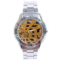 Graphics Assembly Transformation Stainless Steel Analogue Watch