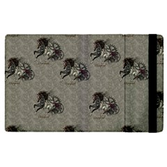 Awesome Steampunk Horse With Wings, Wonderful Pattern Apple Ipad Mini 4 Flip Case by FantasyWorld7