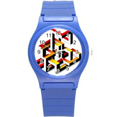 Maze Illusion Drawing Vector Round Plastic Sport Watch (s)