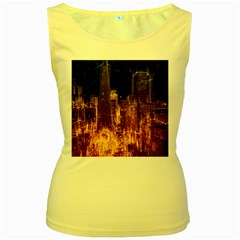 City View San Francisco Usa Women s Yellow Tank Top