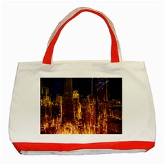 City View San Francisco Usa Classic Tote Bag (red)