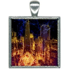 City View San Francisco Usa Square Necklace