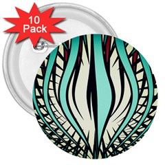 Retro Illusion Canvas Night 3  Buttons (10 Pack)