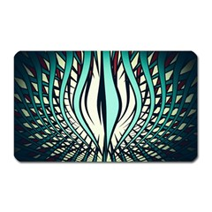 Retro Illusion Canvas Night Magnet (rectangular)